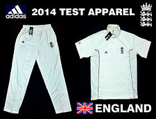 New Adidas England 2015 Test Cricket White Jersey Shirt Pant Trouser M L XL XXL