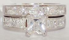 14K W GOLD EP 7.2CT DIAMOND SIMULATED ENGAGEMENT RING size 6 - 10 you choose
