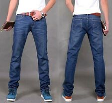 New Men's Classic Jeans Stylish Designed Straight Slim Fit Trousers Casual Pants