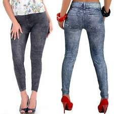 Imitated Denim Look Sexy Skinny Legging Jeans Women's Jeggings Stretch Pants