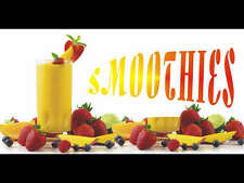 Smoothies Food Cold Drinks Summer Ice Shop Display Outdoor Cheap Banner