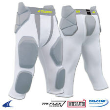 Champro Man-Up 7-Pad Integrated Football Girdle - White - Youth and Adult