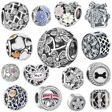 Hollow 925 Silver Charms Beads Fit sterling European charm Bracelet Necklace S17
