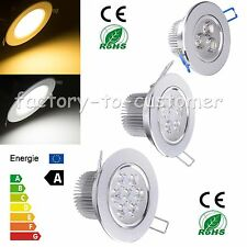 9W 15W 18W LED Dimmable Ceiling Downlight Recessed Lamp Warm Cool White + Driver