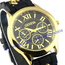 New Roman Numerals Casual Sport Silicone Rubber Women's Jelly Dress Watches Gift