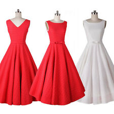 Women Vintage 50s Retro Rockabilly Pinup Lace Swing Party Evening Formal Dress