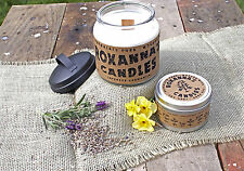 Lavender Chamomile Wooden Wick Soy Wax Candle *All-Natural* No Dyes No Phthalate