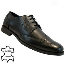 NEW MENS LEATHER CASUAL OFFICE WORK SMART LACE UP BROGUES PARTY SHOES BOOTS SIZE