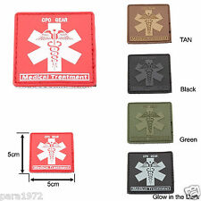 Medical Treatment Medic 3D PVC Patch with Velcro (5 color Options)