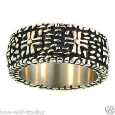 Stainless Steel Cross Ring -Men's Size 9-16
