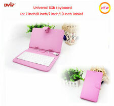 """Leather Case Universal USB Keyboard for 10"""" 9"""" 8"""" 7""""inch Android Tablet PC Cover"""