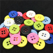 100pcs 15mm Round 4 Holes Resin Buttons Sewing Scrapbooking Embellishments