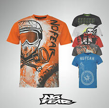 Mens Branded No Fear T Shirt Moto Graphic Short Sleeves Top Size S M L XL XXL