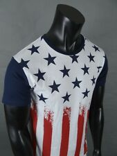 Brand New Men's Red, White & Blue American Flag Short Sleeve T-Shirt!