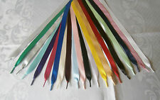 Satin Ribbon Laces- Shoes,Trainers,Boots-Adults,Jnr,Inf - Aglets on Ends -10mm