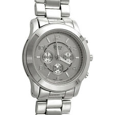 Silver MK Style XXL Big Face Boyfriend Fashion Watch