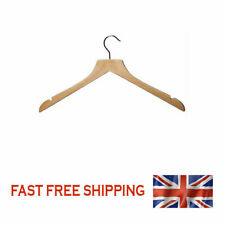 """WOODEN SHIRT JACKET TOPS HANGER Shaped Wood with NOTCHES 44cm (17¼"""") 25"""