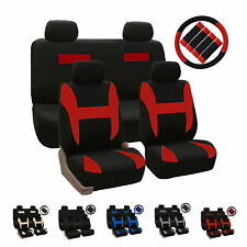 13 Piece Flat Cloth Full Set Car Seat Covers with Accessories