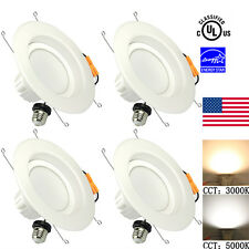 4X Ceiling Light Dimmable 6-inches 13W(100W Replacement) LED Recessed Downlight