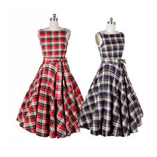 Women Vintage 50s Rockabilly Retro Bow Pinup Swing Prom Ball Party Evening Dress