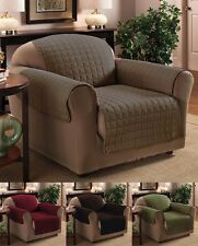Luxury Quilted Chair / Recliner Furniture Protector Cover ~ 4 Colors