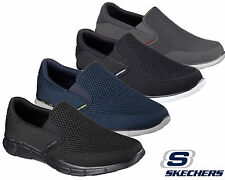 Mens Skechers Sport Shoes Slip On Equalizer Go Walk Comfort Memory Foam Trainers