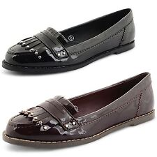 Womens Ladies Loafers Dolcis Flat Casual Work Office Moccasins Pumps Shoes Size