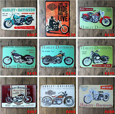 Harley Davidson Motorcycle Tin Sign Bar Bub Wall Decor Retro Metal Art Poster