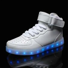 Lovers LED Night Flash Light Shoes Couples Men Women Trainer Lace Up Sneakers