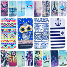 For HTC One M9 /One M8 Case Luxury Painted Magnetic Money Wallet  Leather Cover