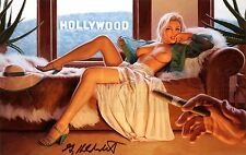 Greg Hildebrandt-Casting Couch, Photo Print, Pinup Girl