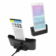 Dual OTG USB Sync Battery Charger Dock Holder For SAMSUNG GALAXY NOTE 4 SM-N910F