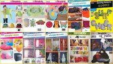 OOP Simplicity Sewing Pattern Children and Teen Home Decor Accessories You Pick