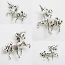 3D UNICORN FANTASY HORSE Sterling Silver Charm Pendant with Spacer or Necklace
