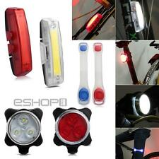 Super Bright Cycling Bicycle Bike Front Head Light + Rear Tail Safety Lamp