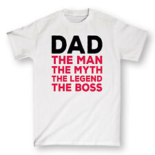 Dad The Man Myth Legend Boss Funny Father's Day Daddy Cool Humor - Mens T-Shirt