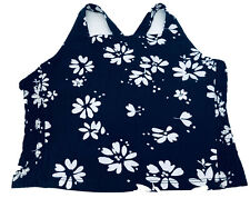 Urban Outfitters Navy White Floral Crop Cropped Top Bralet BNWT UK 10 S £22
