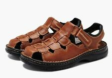 US7-12.5 new fashion Mens fisherman Sandals leather casual Beach sneaker Shoes