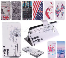 Patterned Flip PU Leather Soft Back Lovely Wallet Cover Case For Various Phones