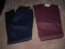 LC Lauren Conrad Women's Fashion Coated Jeggings-Navy or Wine-MSRP $60-NWT