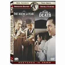 SHERLOCK HOLMES DOUBLE FEATURE The House of Fear & The Pearl of Death DVD