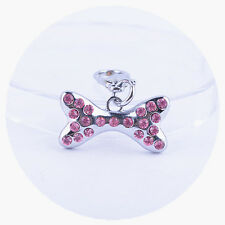 Pink Rhinestone Collar Charm Pet Jewelry Dog Accessories Products For Animals