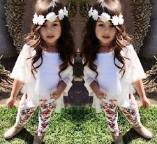 New Baby Girls Clothing Set White Cardigan T-Shirt Floral Leggings 3 Pcs/Outfit
