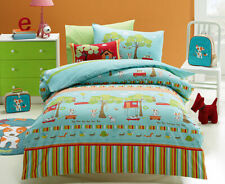 OLIVER Puppy in the Park SINGLE or DOUBLE choice QUILT COVER SET BNIP Dog J&G