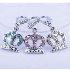 Fashion Rhinestone Jewelry Crown Shaped Dog Accessories Collar Charm Pet Product