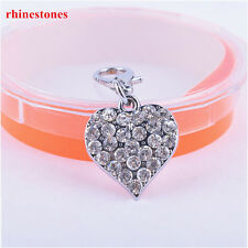 Rhinestone Heart Shaped Jewelry Fashion Collar Charm Pet Tag Dog Accessories