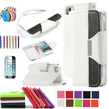 Multi Color PU Leather Stand Flip Pouch Wallet Case Cover For iPhone 6/6s Plus