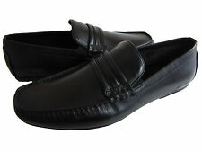 KENNETH COLE MENS UN-WAVE-RING BLACK SLIP-ON CASUAL DRESS LEATHER LOAFERS SHOES