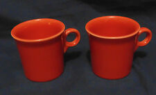 FIESTAWARE RETIRED PERSIMMON TOM AND JERRY MUGS - SET OF TWO