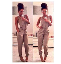 Women Ladies Clubwear O Neck Playsuit Bodycon Party Jumpsuit/Romper Trousers